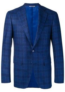 Canali check pattern classic jacket