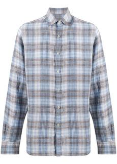 Canali check print shirt