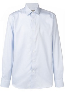 Canali checked pointed collar shirt