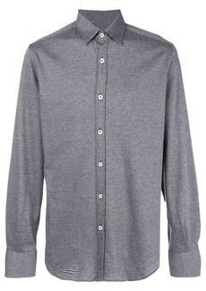 Canali classic curved hem shirt