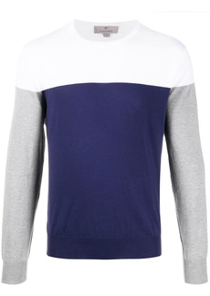 Canali colour block jumper