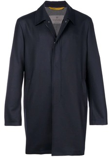 Canali concealed fastening midi coat