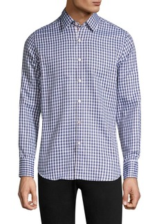 Canali Contrast Check Sport Shirt