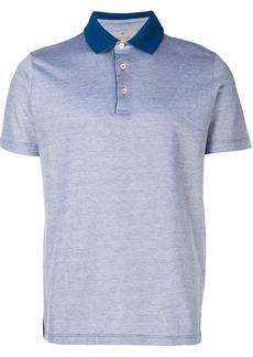Canali contrast collar polo shirt