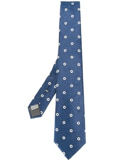 Canali contrasting circles patterned tie