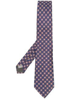 Canali corbata floral pattern tie