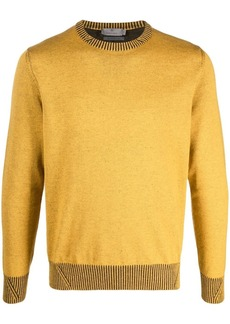 Canali crew-neck knitted jumper