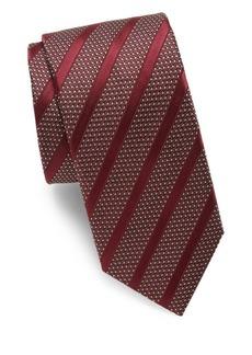 Canali Dots & Stripes Silk Tie