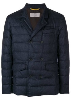 Canali double-breasted padded jacket
