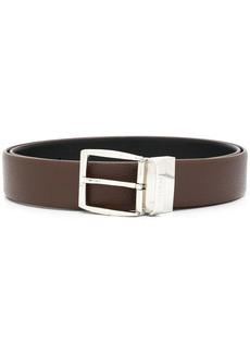 Canali engraved logo buckle belt