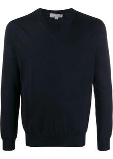 Canali fine knit V-neck sweater