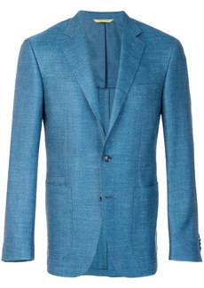 Canali fitted shirt jacket