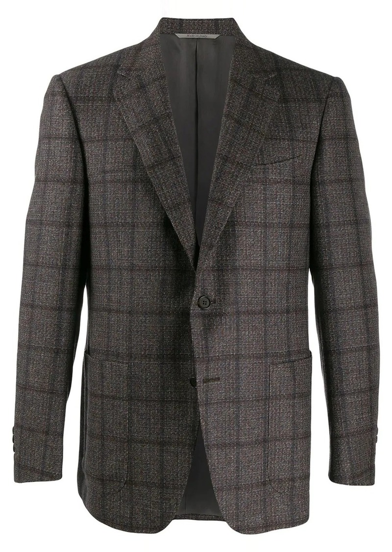 Canali fitted single-breasted blazer