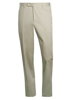 Canali Flat-Front Cotton-Blend Trousers