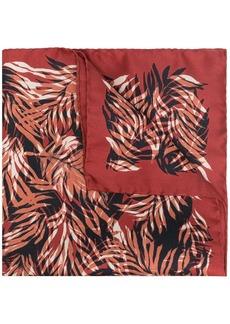 Canali foliage-print pocket square