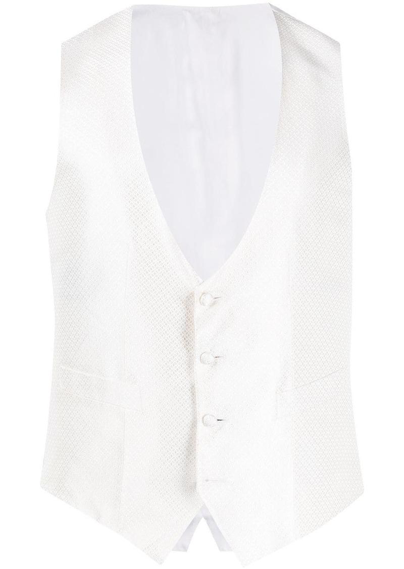 Canali geometric pattern waistcoat