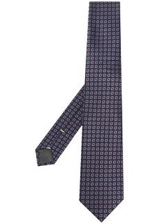 Canali geometric print pointed tie