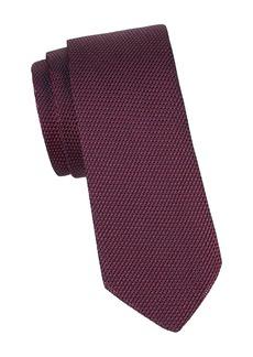 Canali Grenedine Woven Silk Tie