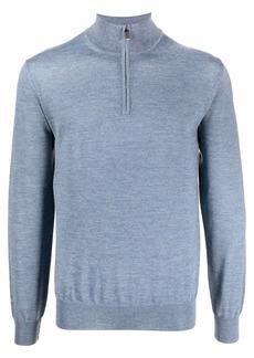 Canali half-zip high-neck jumper