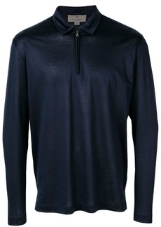 Canali half-zip polo shirt