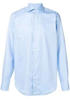 Canali herringbone pattern shirt