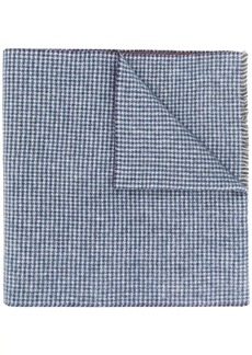 Canali houndstooth print scarf