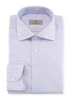 Canali Impeccabile Textured Check-Print Dress Shirt