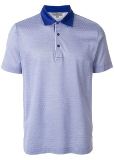 Canali jacquard polo shirt