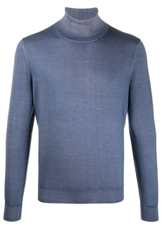 Canali jersey knit high neck sweatshirt