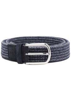 Canali knitted buckle belt