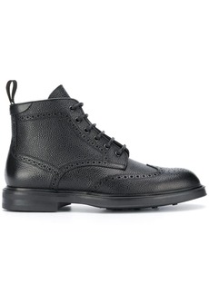 Canali lace-up brogue boots