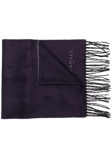 Canali large fringe scarf
