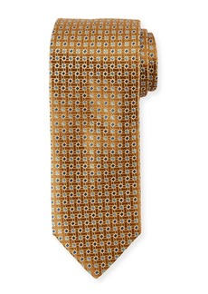 Canali Lattice Box Silk Tie