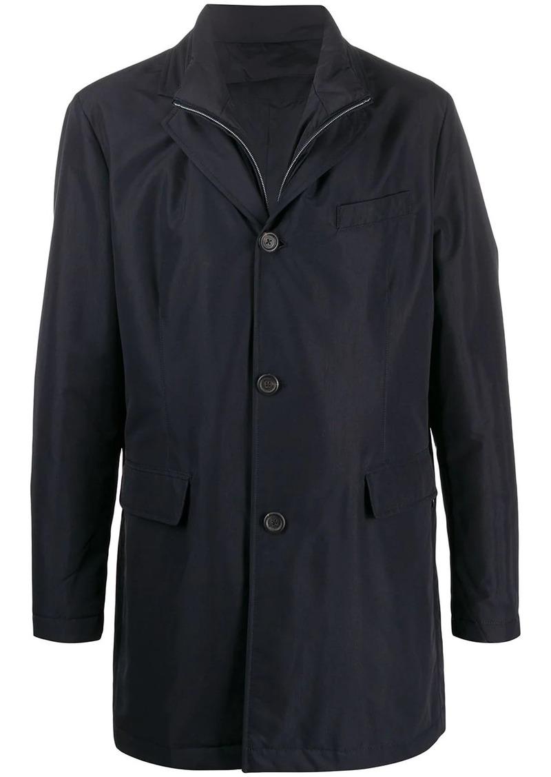 Canali layered single breasted coat