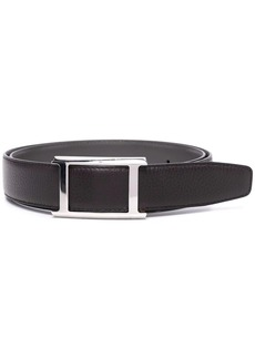 Canali leather buckle belt