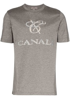 Canali logo-appliquéd cotton T-shirt