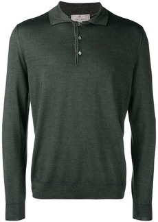 Canali long sleeve polo shirt