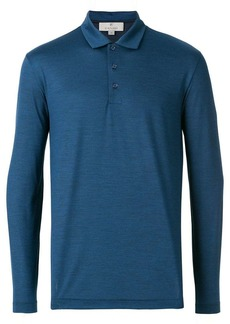 Canali long-sleeved polo top