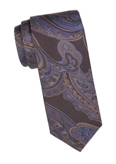 Canali Magnified Paisley Silk Tie