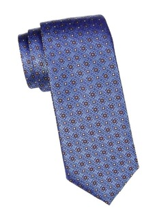 Canali Medallion Print Silk Tie