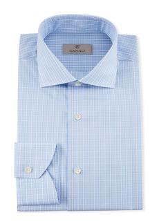 Canali Men's 2-Ply Plaid Dress Shirt