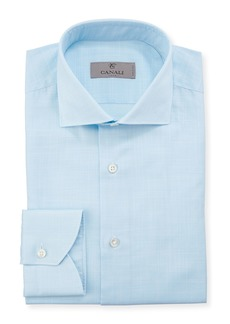 Canali Men's 2-Ply Plaid Dress Shirt