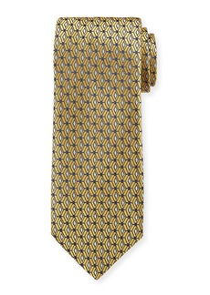 Canali Men's 3D Diamonds Silk Tie  Gold