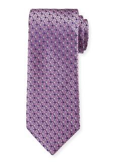 Canali Men's 3D Diamonds Silk Tie  Pink