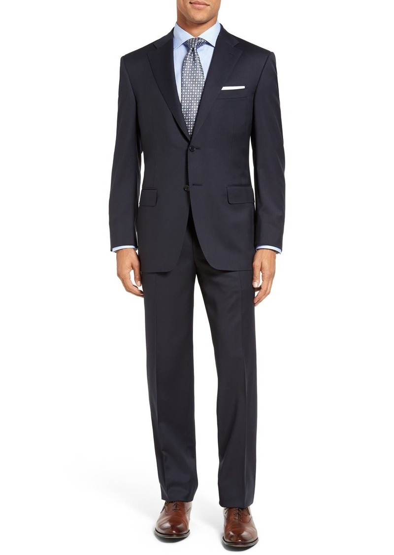 Men's Canali Classic Fit Solid Wool Suit