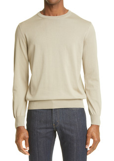 Men's Canali Cotton Crewneck Sweater