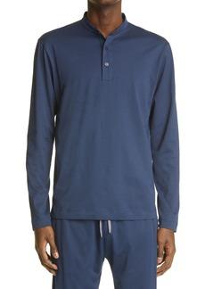 Men's Canali Cotton Jersey Henley