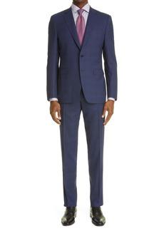 Men's Canali Impeccabile Classic Fit Plaid Wool Suit