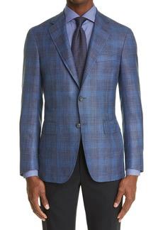 Men's Canali Kei Plaid Wool