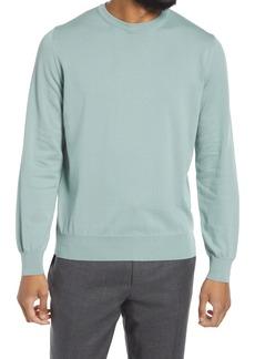 Men's Canali Men's Crewneck Cotton Sweater